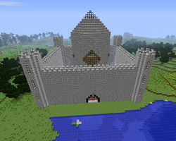 a werry big minecraft castle by cynderplayer