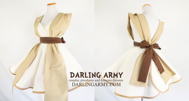 Rey Star Wars Force Awakens Cosplay Pinafore Dress by DarlingArmy