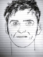 my first attempt of Drawing David Tennant Lolz by jakey01