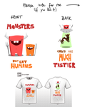 Hungry - Cute Monsters Contest T-Shirt Design by Lkaef