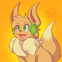 The New Mio the Eevee! by Zander-The-Artist