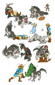 Wolf Link Chaos 10th Anniverasy (Botw Edition) by Humanoid-Magpie
