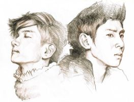 TVXQ comeback drawing by emenemsbis