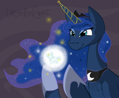 Luna Weaving a Dream (Pony Poll) by CadetRedShirt