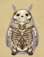 Totoro's Skeleton by WeijiC