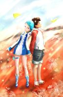 Eureka Seven - Renton and Eureka by AllMore