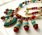 Nepalese Statement Necklace by Gerene33