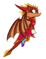 Flare the Dragon (Sonic Style) by SuperSonicFireDragon