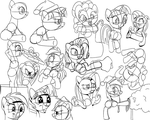 Winter Break Pony Sketches by Here-for-the-ponies