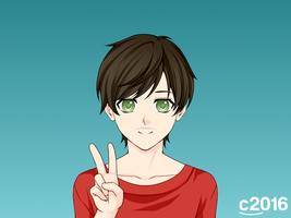 Me in Anime form v2 by Catali2016