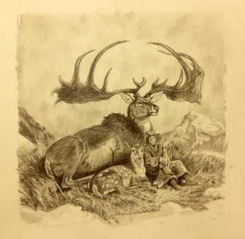 Master Copy of James Gurney's Painting, Irish Elk by longbow1415