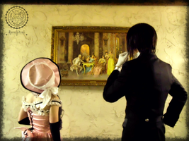 That Butler, admiring art. by Caketown