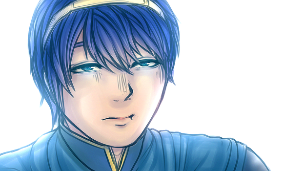 Marth (Animated Blinking) - Fire Emblem by KayaArune