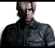 Leon Digital Painting by KapinSpanky