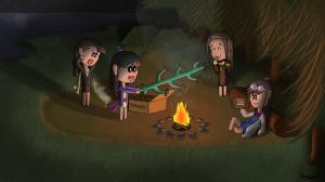 Camping Sisters by Berendsnors-Fanart