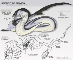 Serpentine dragon design by Blue-Uncia