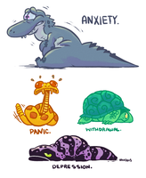 Herptoons: Anxiety and Friends by Kilo-Monster