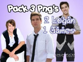 BTR: Logan,James PNG pack by MarySchmidtBTR