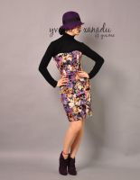 Purple Embroidered Tube Dress7 by yystudio