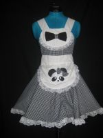 Lolita Panda Cosplay Pinafore by DarlingArmy