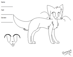 Ref Sheet Lineart :3 by bronzefish678