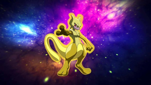 golden mewtwo by nissimaharonov