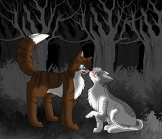 Hawkfrost X Ivypool by DevilsRealm