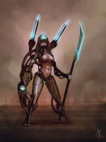 sci fi character concept by kastep
