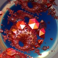 creation with red stones by Andrea1981G