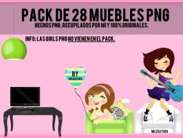 28 Mueblecitos Png para Vectorizar tus Girls! by Milegatura
