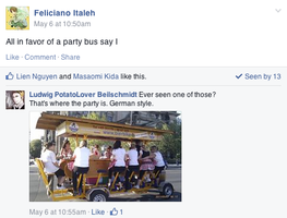 Hetalia Facebook:Party Bus by gilxoz-epicness