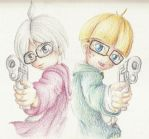 Nerds with guns by Lady-of-Link