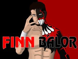 NXT Superstar Finn Balor Drawing by AllenThomasArtist