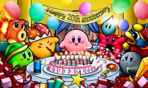 Kirby 20th Anniversary Party by amadis33