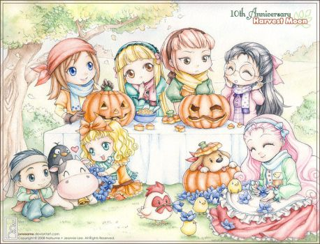 Happy Halloween Harvest Moon by junosama