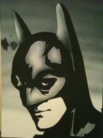 Airbrushed Batman by BlackRabbitArtisan