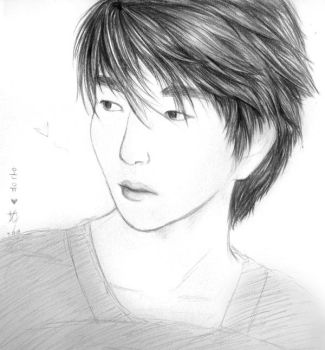 Onew Sketch :D by Kirara17