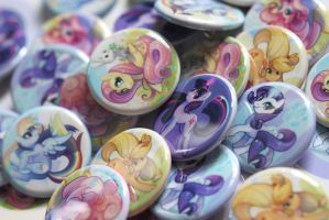 Pony Buttons by Flying-Fox