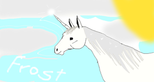 Frost the Last Unicorn by shastamoon123