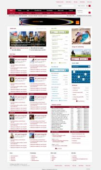 Media web site layout - portal by onedesigner
