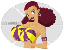Laker Girl by thisisanton
