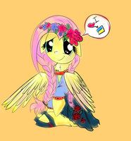 Ukrainian Fluttershy by EglantineRay