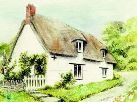 English Country Cottage by morgansartworld