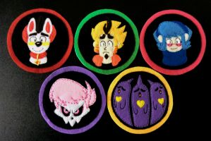 Mystery Skulls Animated Character Patches! by ToastyLynx