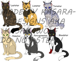 Warrior Cats-Leaders 2 GONE by Kasara-Designs