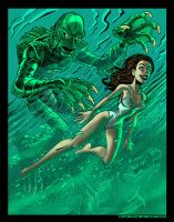 Creature From the Black Lagoon by BryanBaugh