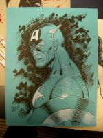 Captain America con sketch by MichaelDooney