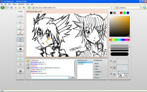me and monichanz yusei drawing by Zodia2
