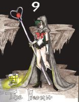 9 Hermit Sailor Pluto tarot by BlackMageChan