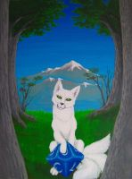 White Kitsune - Final Painting by FirstPrimeOfCessna